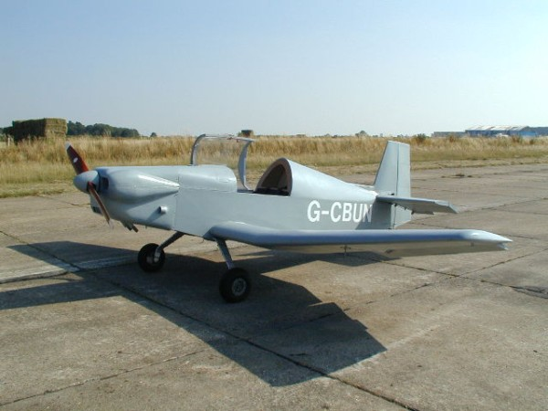 First flight and full LAA Permit testing of the Barker Charade. Maximum Take-off weight 750 kg.